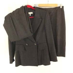 Escada Womens 3pc Suit Blazer Skirt Pants